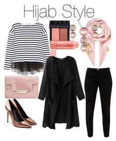 """New Hijab Style"" by stellamarina465 ❤ liked on Polyvore featuring J.Crew, Ted Baker, Alexander Wang, Salvatore Ferragamo and NARS Cosmetics"