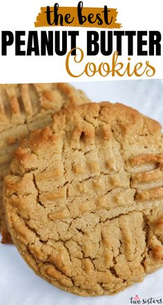 Peanut Butter Cookies - Crunchy on the outside, chewy and peanut-buttery on the inside.  These cookies are Mmmmm .... mmmmm... good. These yummy baked peanut butter cookies are easy to make and super delicious. Pin this yummy Cookie Recipe for later and and follow us for more great Cookie Ideas. #PeanutButterCookies #PeanutButter Delicious Cookie Recipes, Yummy Cookies, Baking Recipes, Dessert Recipes, Making Cookies, Baby Cookies, Easy Cookie Recipes, Dessert Ideas, Sugar Cookies