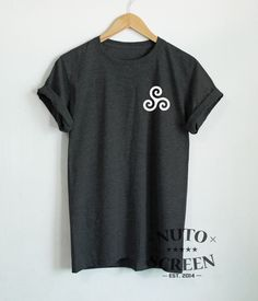 TRISKELION T-SHIRTS POCKET SHIRT TATTOO UNISEX TOP TEEN WOLF TEE SYMBOL SHIRTS #Unbranded #GraphicTee