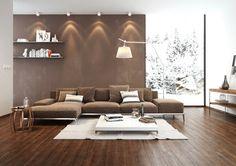 Fantastisch Frisch Wohnzimmer Dekorieren Braun