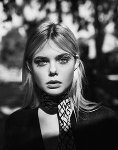 Elle Fanning, photographed by Billy Kidd for The Edit, Sep 10, 2015.