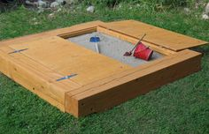 covered sandboxes not sure cover would work but not as heavy as a full sheet of wood
