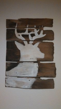 Antique Wooden Shingle HandPainted Deer by LelvinCreations on Etsy, $20.00