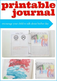 Printable Journal for Kids (Get Your Child to Communicate with You)