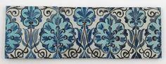 Three William De Morgan Late Fulham Period tiles - by Woolley & Wallis