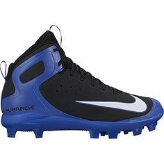 online retailer fce0e 97a1b Nike Men s Alpha Huarache Pro Mid MCS Baseball Cleats (Black Blue, Size -  Adult Baseball Shoes at Academy Sports