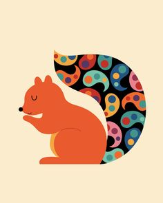 Poster | PAISLEY SQUIRREL von Andy Westface