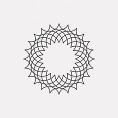 new geometric design every day Buy my posters on LinxSupply Geometric Pattern Design, Geometric Designs, Geometric Shapes, Mandala Pattern, Mandala Design, 1 Tattoo, Carving Designs, Line Design, String Art
