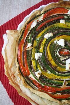 Tarte provençale en spirale http://www.lacuisinedefrancoise.be/archive/2013/06/01/tarte-provencale-en-spirale.html