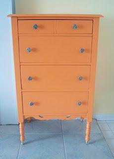Orange for Sierra's new dresser?