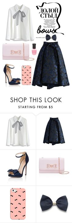 """""""ItsV #105"""" by itsrealvyvy ❤ liked on Polyvore featuring Chicwish, Little Mistress, Ted Baker, Casetify and Deborah Lippmann"""