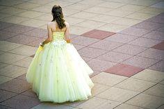 #yellow princess dress  yellow dress #2dayslook #yellow style #yellowfashiondress  www.2dayslook.com