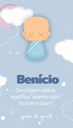 Benício é uma linda escolha de nome de menino! Confira o significado! #maternidade #gravidez #benicio #nomes Baby Shower Food For Girl, Girl Shower, Cute Baby Names, Boy Names, Baby Crafts To Make, Shower Quotes, It's A Boy Announcement, Woodland Nursery Boy, Baby Posters