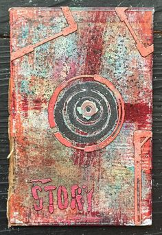 Telling The Story Vintage Book Cover Tutorial featuring Seth Apter Collection with Spellbinders. See how this mixed media piece is created!