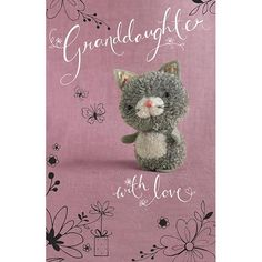 "Teddy ""Tiddly pom pom"" by Eleri Fowler for Paper Rose greeting card"