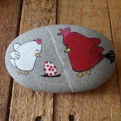 50 easy diy chicken painted rocks ideas (45)