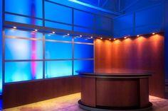 Simple broadcast studio set design