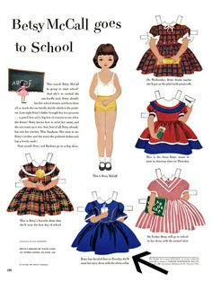 I was researching the introduction of the popular Betsy McCall paper doll series in the May 1951 issue of McCall's magazine, and I made an i...