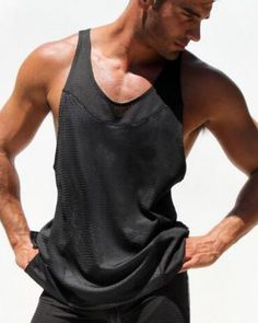 6419d0d8879bb Price tracker and history of Gay Tank Top Men Summer Sleeveless Shirt  Bodybuilding Stringer Fitness Men s Cotton Singlets Muscle Clothes Vest