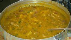 Receita de Sopa de mandioca com carne de porco Modo de preparo: Rapido e Facil! Confort Food, Verde Recipe, Curry, Veggies, Meals, Ethnic Recipes, Pernil, Brazilian Recipes, Pastel