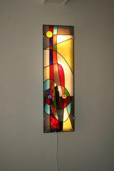 """Très Grande Applique murale Vitrail Tiffany """"Fusion"""""""