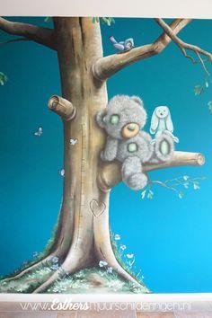 Me to you beer, detail van een muurschildering. Crochet Bebe, Tatty Teddy, Cute Gif, Baby Room Decor, 4 Kids, Painting For Kids, Woodland Animals, Garden Sculpture, Greeting Cards