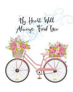 Birthday Card Sayings, Birthday Cards, Bicycle Art, Fashion Wall Art, Happy Birthday Images, Flower Frame, Diy Wall Art, Fabric Painting, Happy Planner