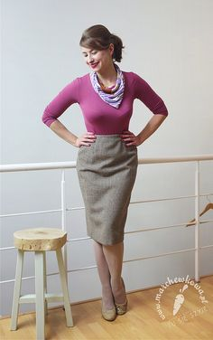 50s style pencil skirt: made by me pattern: Lola, Burda Vintage 2014 Top: Gatta Scarf: Rags&Silks Shoes: CCC