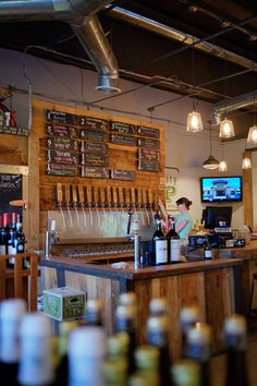 Growler filling station, package store and craft beer bar.
