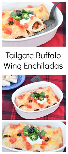 Need a quick recipe for your next tailgate? Look no further than already prepared Deli Hot wings by Tyson. Make quick hot wing tortilla roll ups if you are in a hurry, or take the time to make Tex Mex Hot Wing Enchiladas. Great for a last minute dinner too! #GameTimeHero #CollectiveBias #recipe #ad