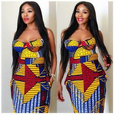 African clothing & Ankara Styles for this Wednesday, it's addition admirable day, yes the anniversary is about to end again. Able-bodied this Wednesday African Attire, African Wear, African Fashion Dresses, African Dress, Ankara Fashion, African Outfits, African Clothes, African Style, Bold Fashion