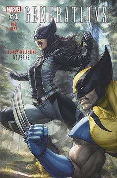 """Marvel Comic Book Artwork • GENERATIONS: ALL NEW WOLVERINE #1 Variant Cover By Stanley """"ARTGERM"""" Lau. Available to buy at our online store www.7ate9comics.com"""