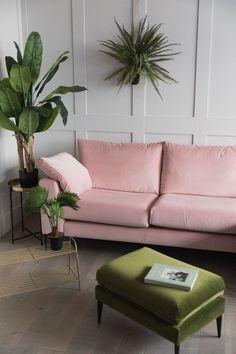 Epsom Pink Velvet Corner Sofa