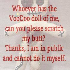Voodoo Doll funny quote