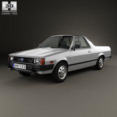 Subaru BRAT 1981 3d model from humster3d.com