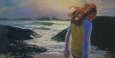 "Heart of Light, 18"" X 36"", oil on canvas, original art is sold"