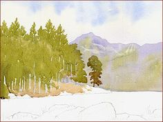 Anthony Forster Art Classes: watercolour tuition - Blea Tarn Application-1