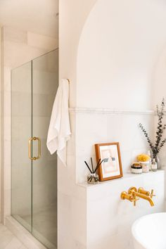 Marble Bathroom Refresh + Parachute's Bath Line