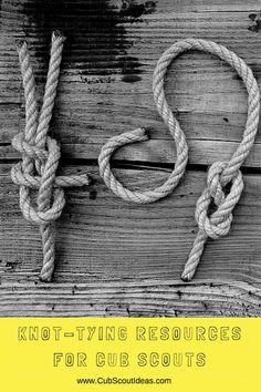 Scouting and knot tying go together. Use some of these resources to help your Cub Scouts learn how to tie scouting knots.