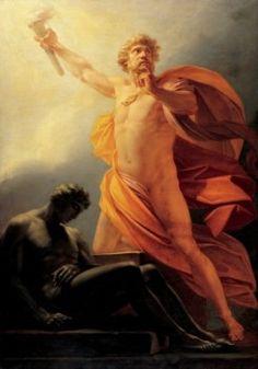 Há várias versões sobre o mito de Prometeu, herói da mitologia grega. Seu nome, no idioma grego, significa 'premeditação'. E é realmente o que este titã, um dos deuses que enfrentam o Olimpo e suas divindades, mais pratica em sua trajetória, a arte de tramar antecipadamente seus planos ardilosos, com a intenção de enganar os deuses olímpicos.
