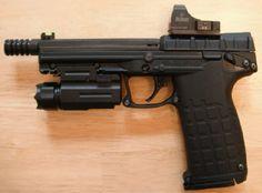 KELTEC PMR-30 threaded, with tac flashlight and reflex sight.