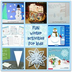 Fun winter activities for kids that include: winter books, free printables, snowy treats, and winter art projects. - teachingwithtlc