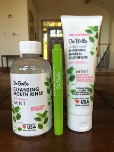 I seriously can't say enough positive things about this super healthy, all-natural line of oral care products from Dr. Brite! All the products are naturally whitening, too! Coupon code 'veganbeauty' saves you 15% off your order.