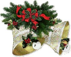 Christmas bells Gifs images and Graphics. Christmas bells Pictures and Photos. Old Time Christmas, Christmas Tree With Gifts, Old Fashioned Christmas, Christmas Bells, Country Christmas, Christmas And New Year, All Things Christmas, Christmas Stockings, Christmas Wreaths