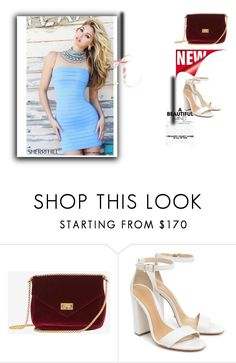 """Sherri Hill 32080 Periwinkle Bandage Mini Dress"" by susannelsone on Polyvore featuring Schutz and Sherri Hill"