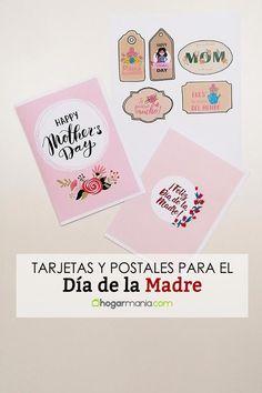 ¿Estás buscando ideas sencillas y bonitas para regalar el Día de la Madre? Hemos preparado unas cuantas postales y tarjetas para descargar, ¡y son gratis! Regalar una postal es una opción genial para hacer un detalle sin gastar mucho. Puedes utilizar las tarjetas para adornar el envoltorio de un paquete de regalo, y las postales para escribir una dedicatoria en su interior. ¡Hazte con las postales y tarjetas que más te gusten! #DíaDeLaMadre #MotherDay Ideas Sencillas, Playing Cards, Interior, Diy, Mothers Day Cards, Searching, Pink Out, Wrapping, Easy Crafts