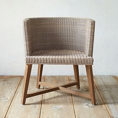 """Terrain - All Weather Wicker Round Dining Chair. 30.3""""H, 26.4""""W, 23.6""""D. $498 retail"""