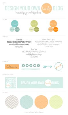Design Your Own (lovely) Blog mood board
