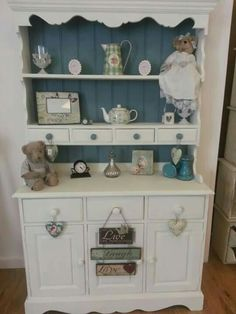 Shabby Welsh Dresser Makeover With a Beautiful Beadbord Painted Back
