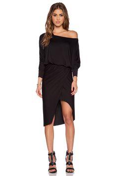 sen Saffron Off the Shoulder Dress in Black